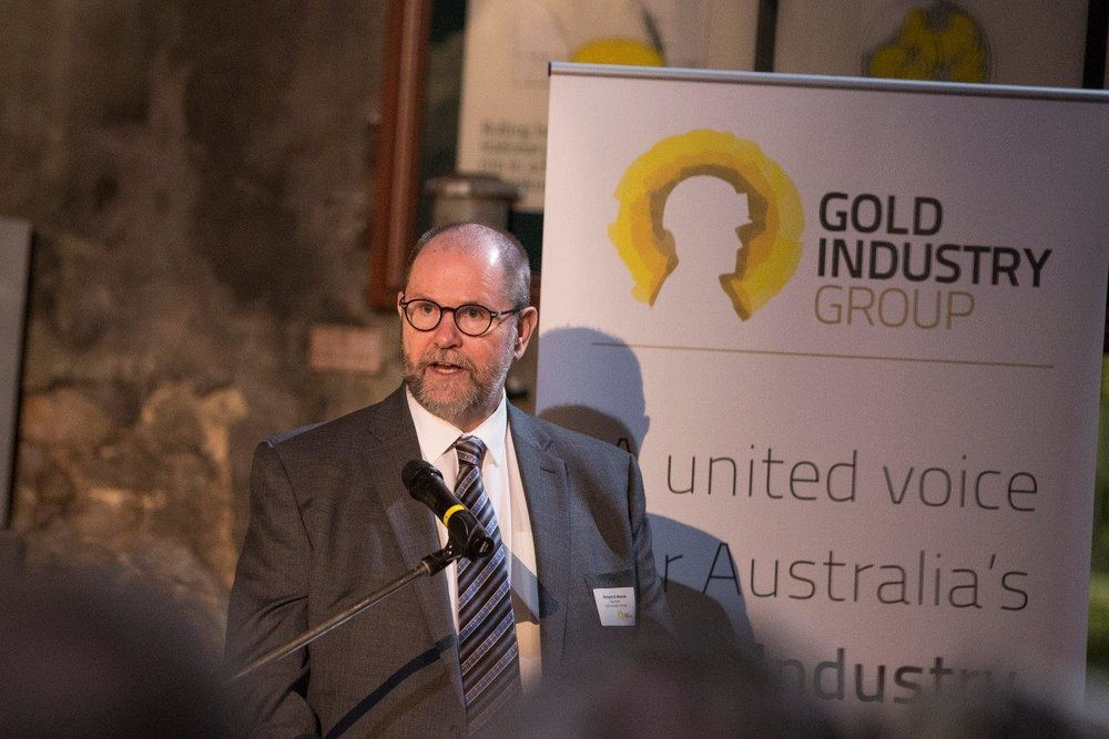 Perth Mint CEO and Gold Industry Group Chairperson Richard Hayes at the inaugural event in 2016.