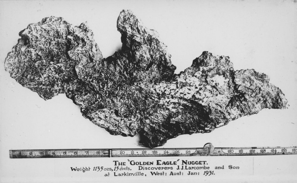The 'Golden Eagle' nugget, 1931 (State Library of WA)