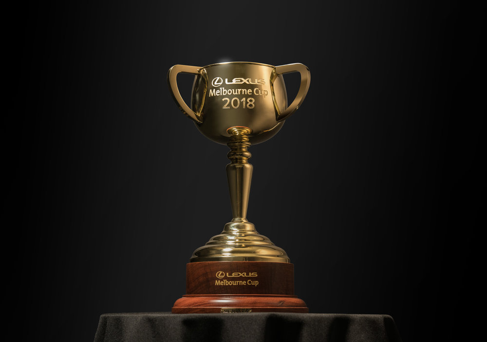 The 2018 Lexus Melbourne Cup trophy.jpg