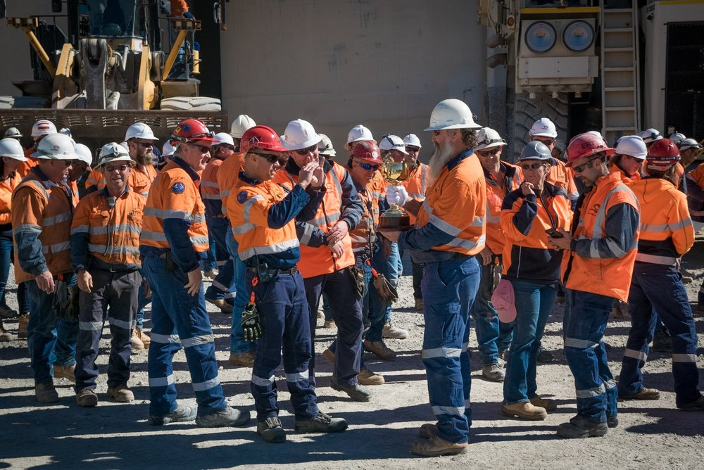 Evolution Mining's Mt Rawdon team capturing the moment the 2018 Lexus Melbourne Cup came back to site.