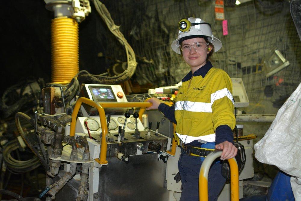 A diamond drill rig at Newmont's Tanami Underground Gold Mine.