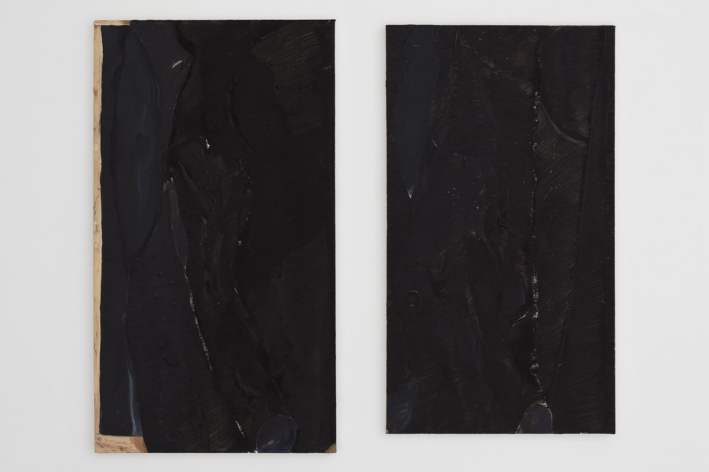 In one coat [ One coat stretched, 2011, oil on canvas, variable dimensions