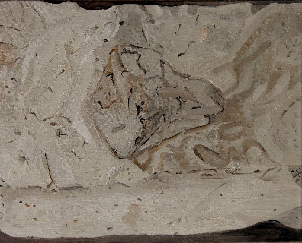 Opus Reticulatum , 2012, oil on canvas, 51x40,5 cm