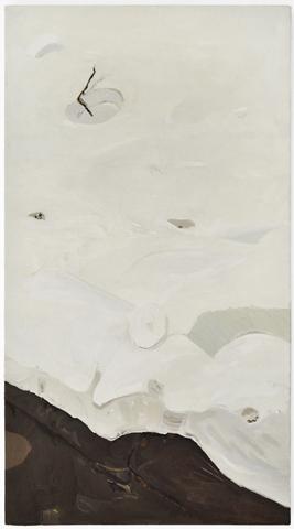 Snowfall , 2012, oil on canvas, 120x55 cm