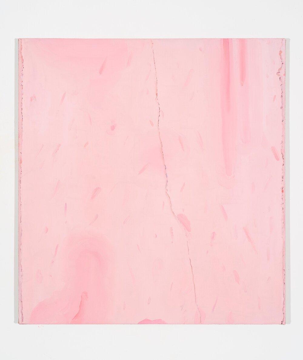 Early Dripping (Pastificio Cerere) , 2018, oil on canvas, 65x71 cm
