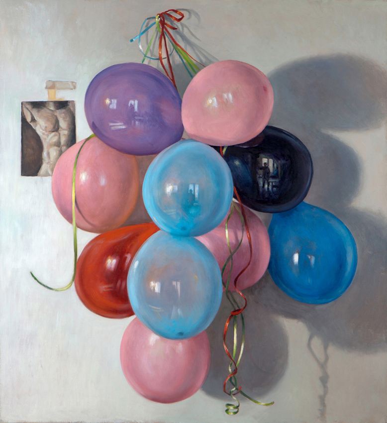 Self Portrait in a Bunch of Balloons