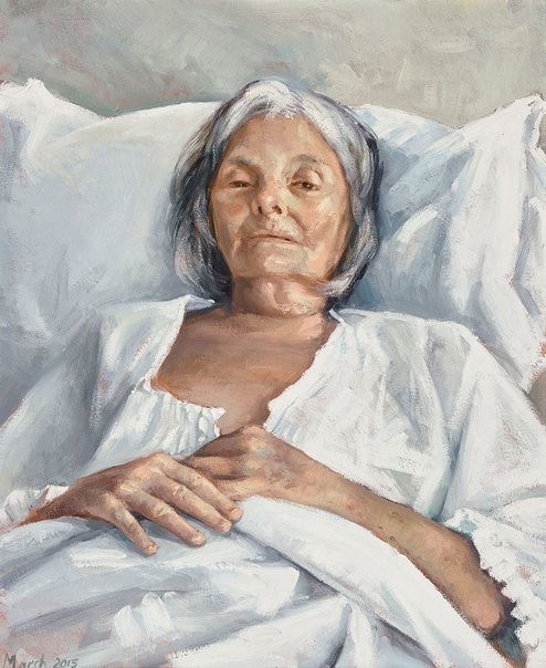 The Last Portrait 2015    Finalist  Archibald Prize Exhibition, Art Gallery of New South Wales, Sydney, Australia.                                           http://www.artgallery.nsw.gov.au/prizes/archibald/2015/29607/