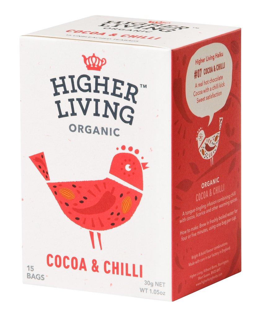 higher living chilli cocoa licorice tea organic