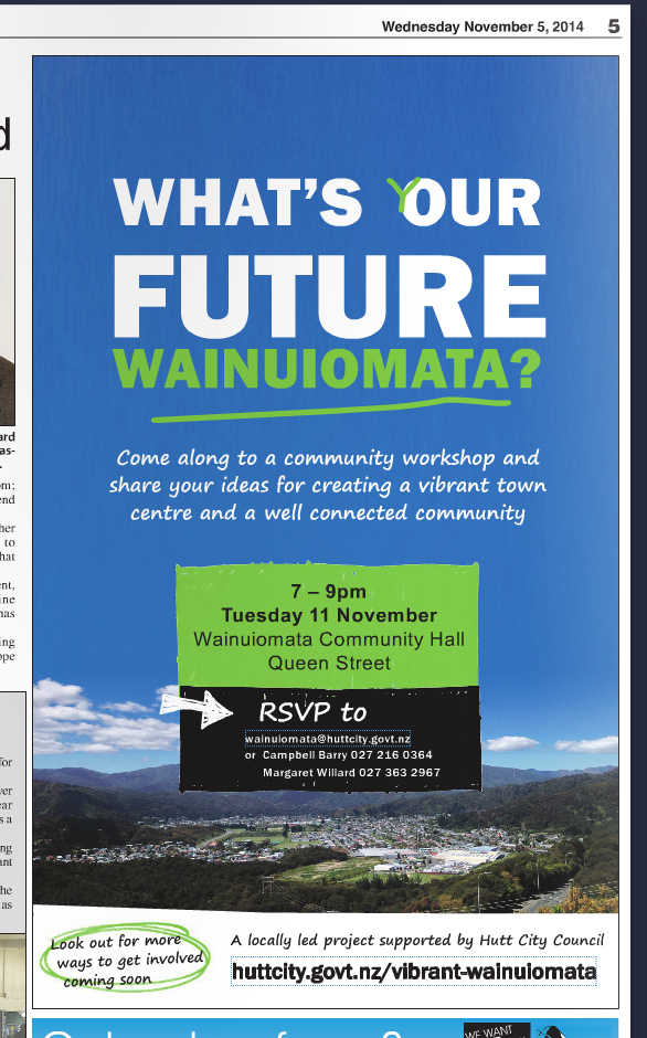 ad result Wainuiomata News 5 November 2014.jpg