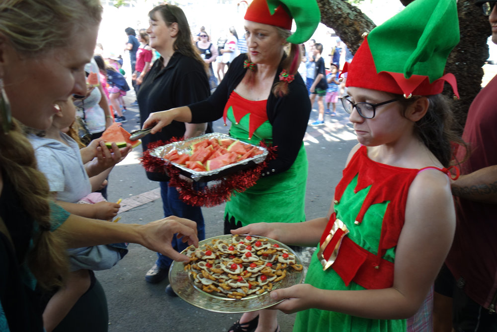 Having a big christmas party 17 dec 2017 was a great way for our community to share their christmas spirit.  locals stepped up to make it happen doing the food, facepainting, carols, bbq, crafts, games & more. awesome way to activate our town's heart and share the aroha!