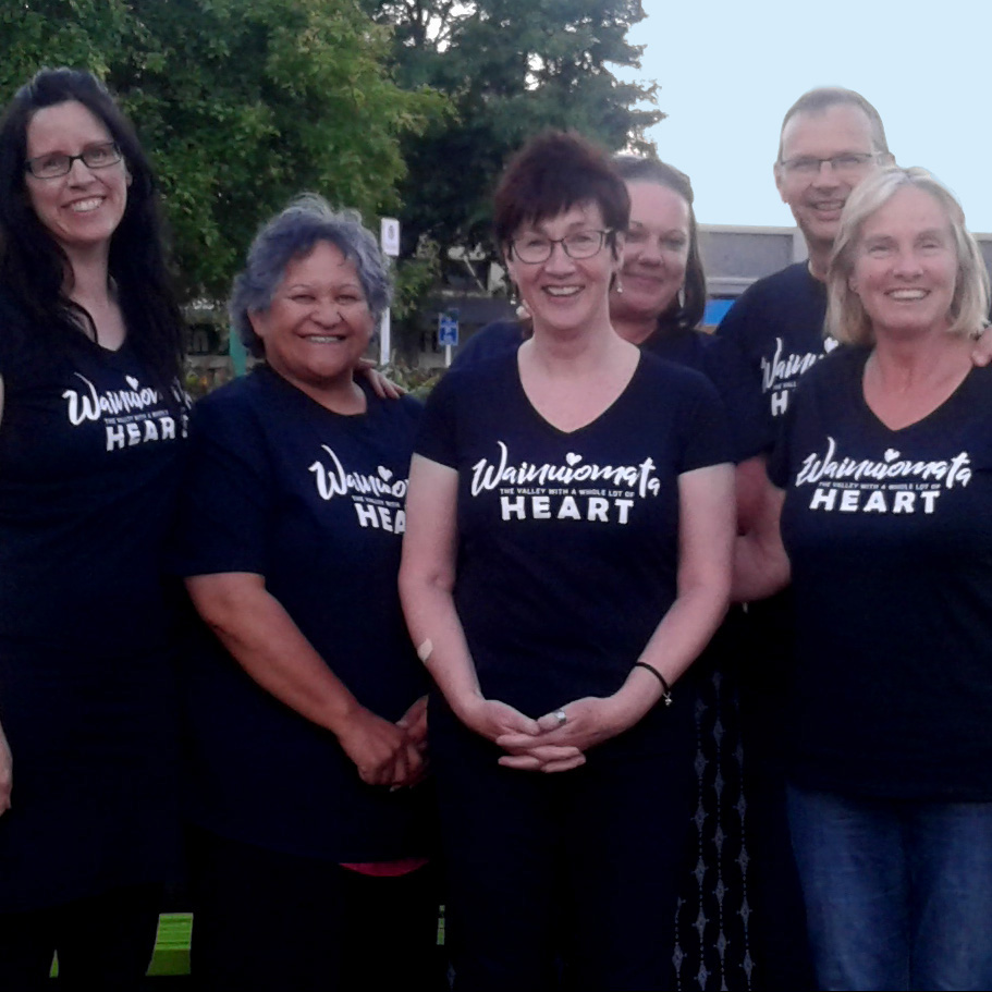 We're so proud of wainuiomata that we wear it on our hearts! wainuiomata is the valley with a whole lot of heart, and we've made t-shirts available for purchase. all funds going back into projects for the community.