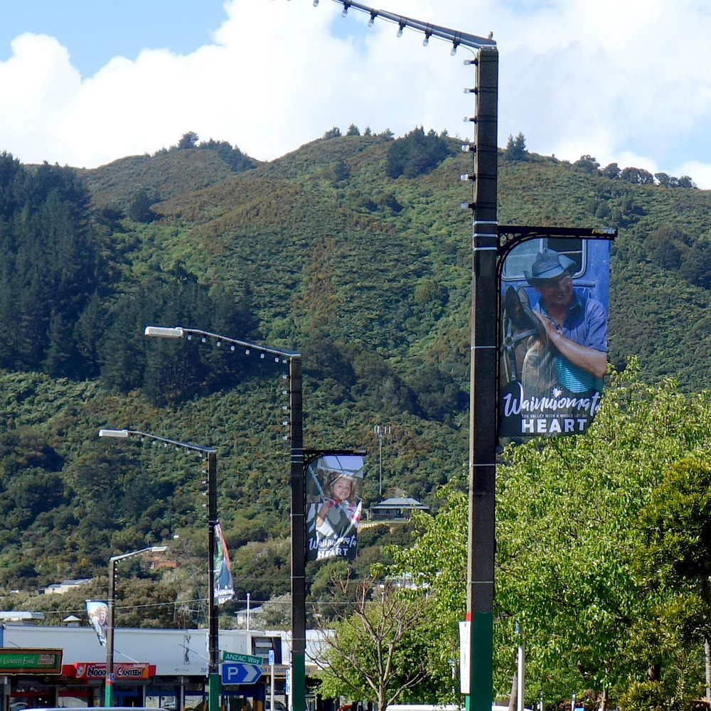 Creating wainuiomata themed flags is a great way to celebrate our beautiful valley & amazing people.