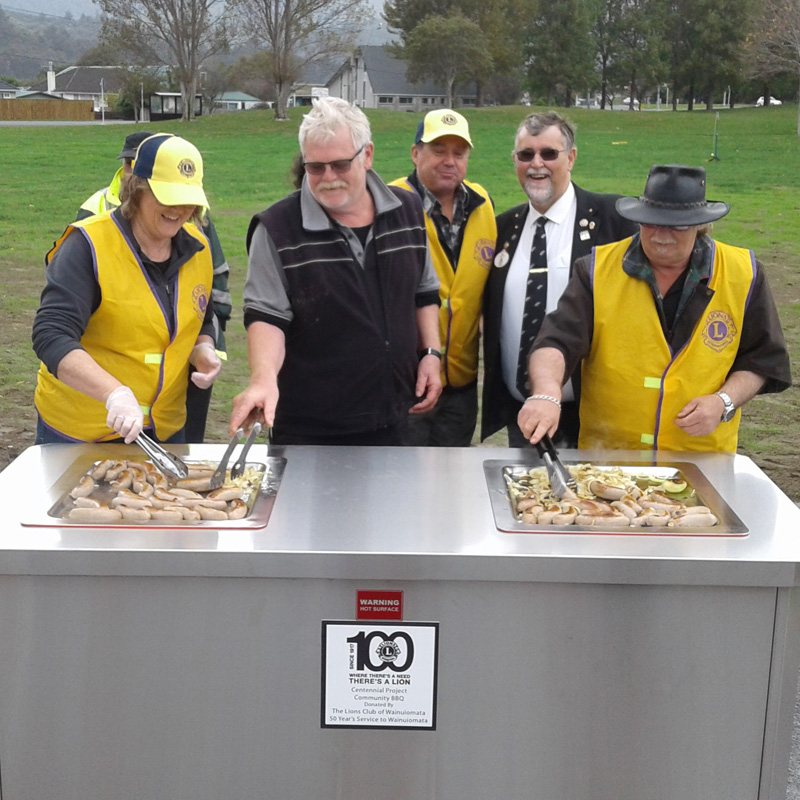 Queen St BBq opening - the lions club of Wainuiomata donated the double electric bbq unit for the community