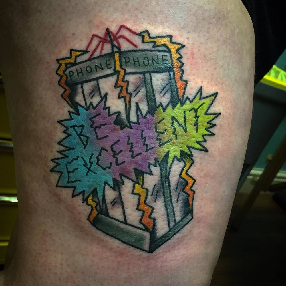 Bill and Ted: Tattooed by Hannah, designed by Alex