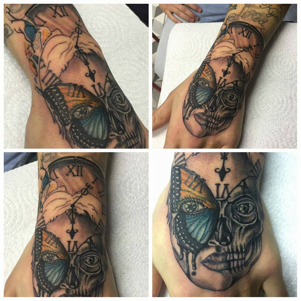 Dan did this awesome hand tattoo.