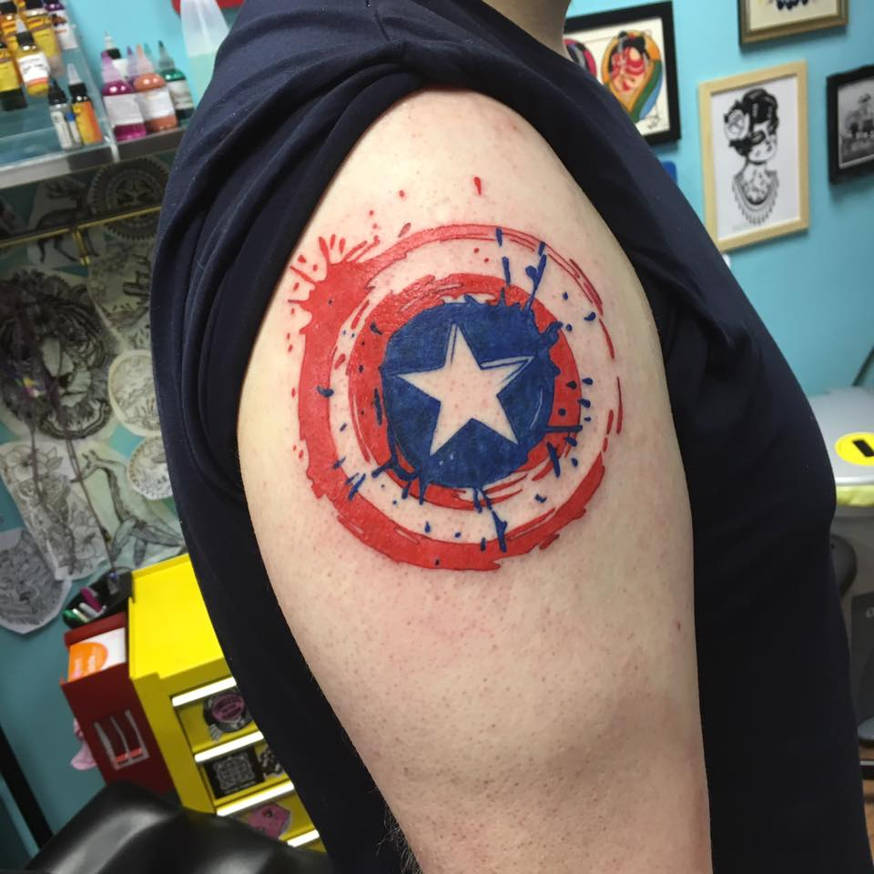 Tony helped a customer to represent Team Cap with this cool Captain America shield. Tony loves all that is Marvel and loves doing comic book inspired pieces so get in touch!