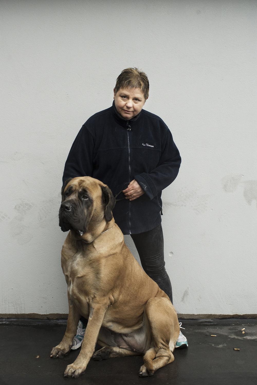 Marzenna Liszewska med hunden Lexus, 2015