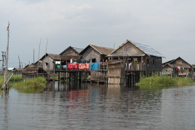 Traditional Inle stilt house