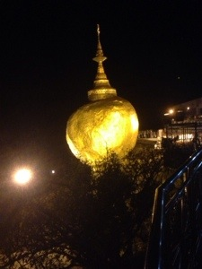 Golden Rock by Night