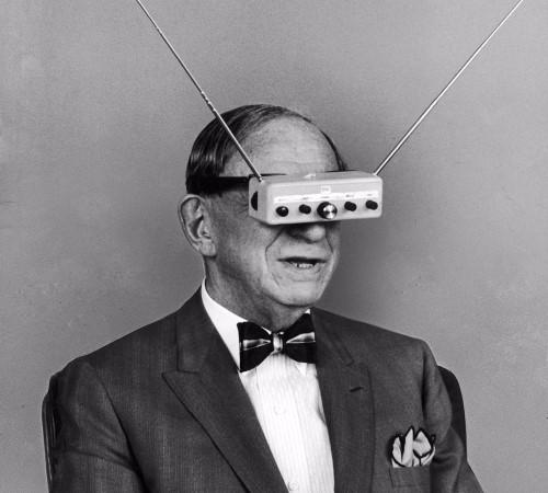 Hugo Bernsback and his Television Goggles