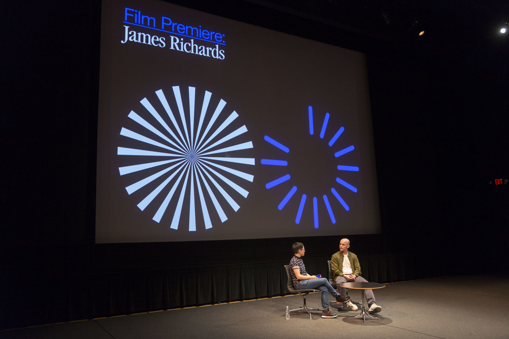 Film scholar Isla Leaver-Yap and artist James Richard discuss his short film,  Radio at Night , which premiered at Superscript. Photo: Walker Art Center