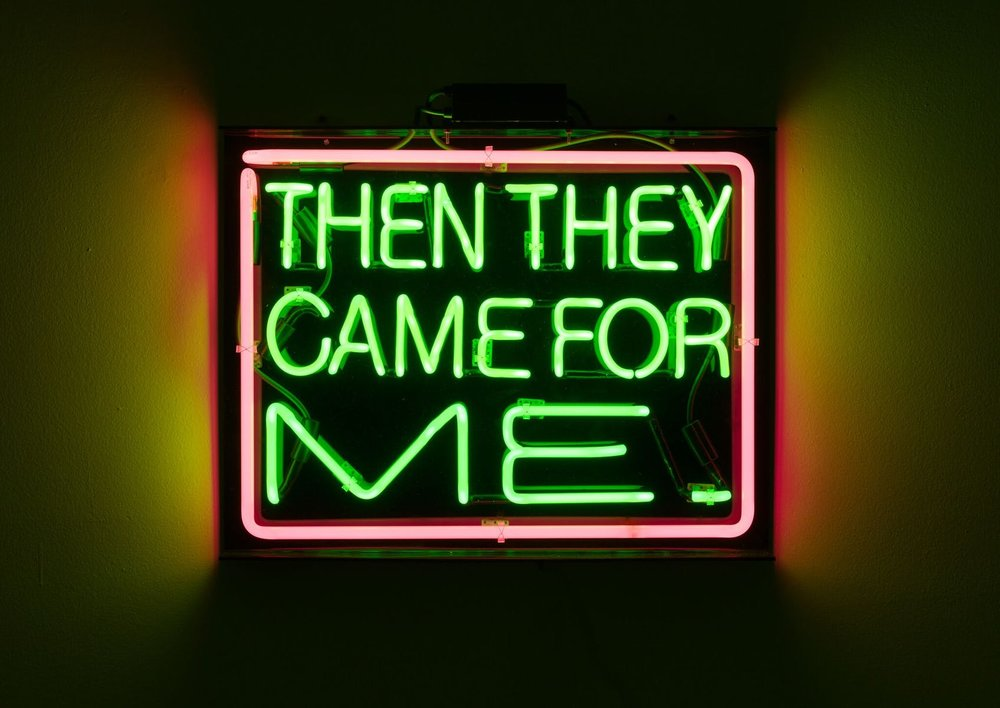 Patrick Martinez, then they came for me, 2016. Courtesy the artist and Charlie James Gallery, Los Angeles Photo: Michael Underwood