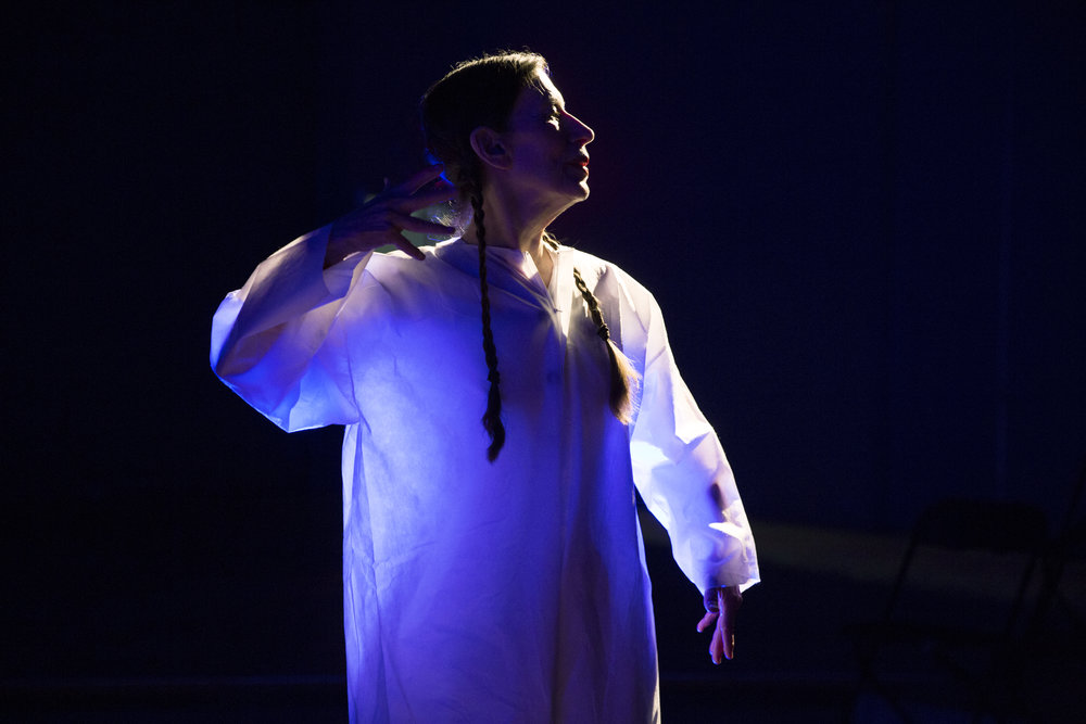 Meredith Monk in  Cellular Songs . Photo: Julieta Cervantes