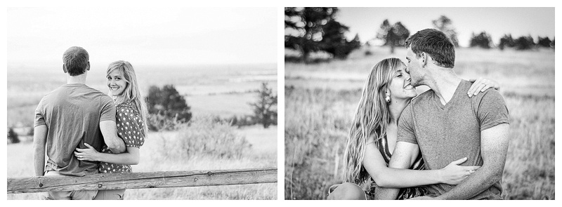 Engagement Pictures in black and white