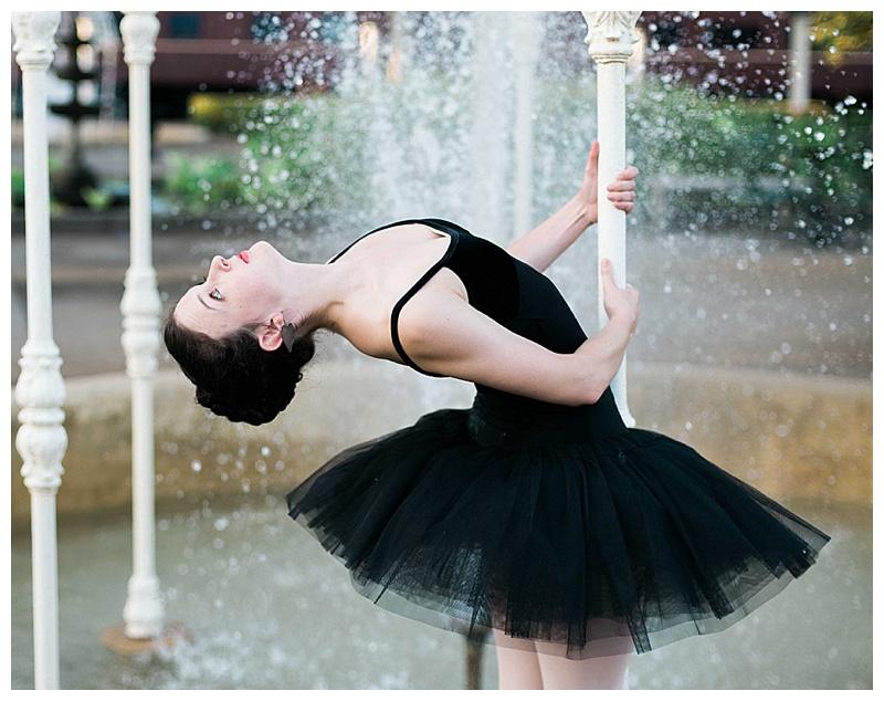 Ballerina in fountain at the Chattanooga Choo Choo gardens