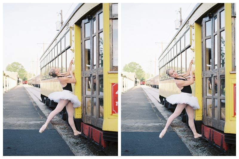 Professional Ballerina on trolley at the Chattanooga Choo Choo