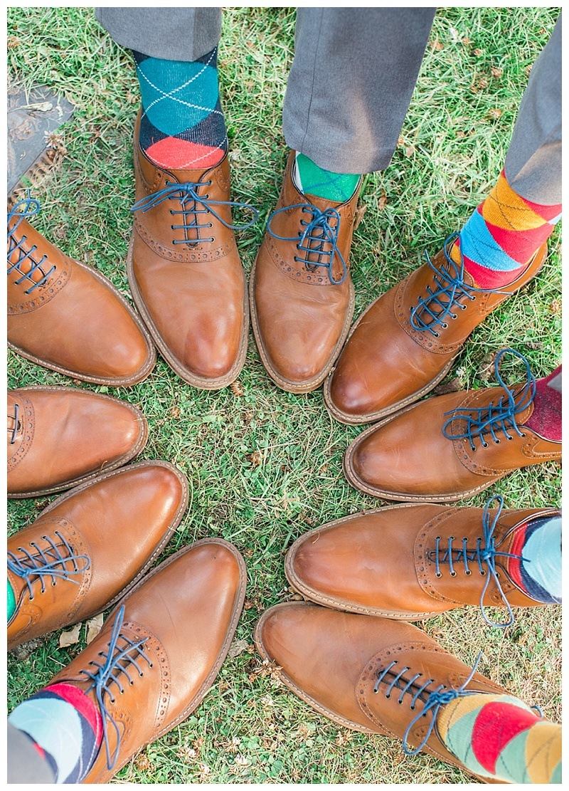 Groomsmen shoes and colorful socks