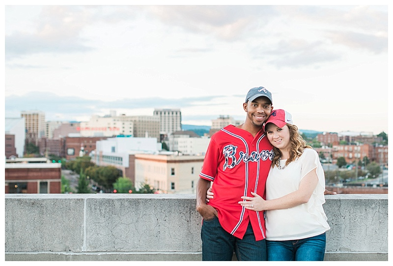 Southside Chattanooga Rooftop Engagement Pictures