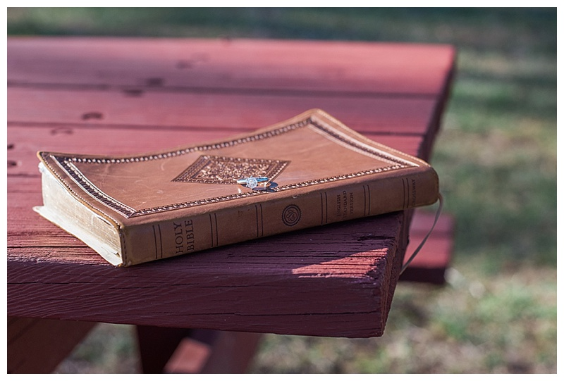 Engagement Ring and Bible