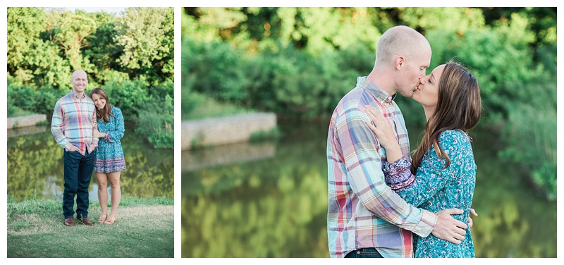 Summer evening engagement pictures