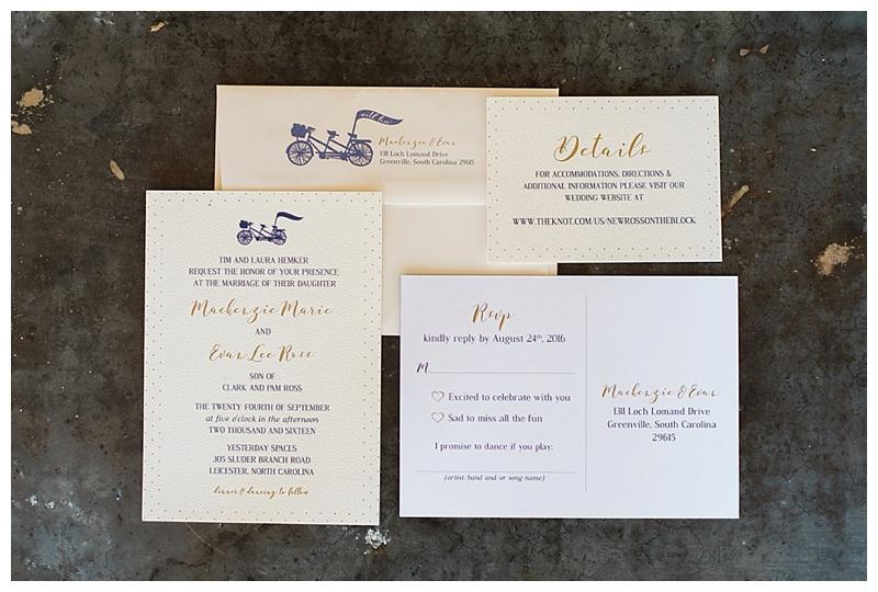 Mackenzie designed the invitations herself!