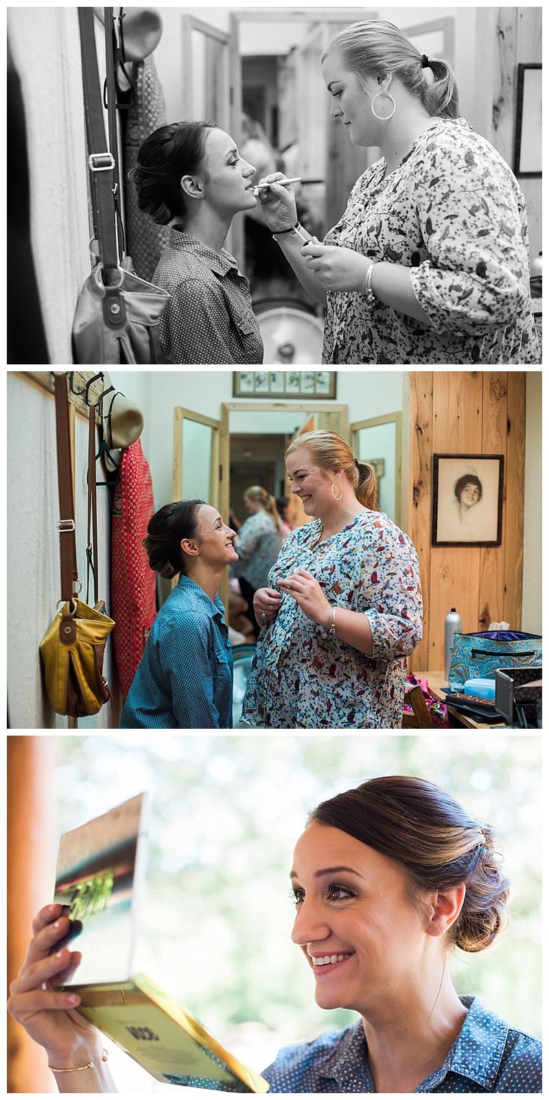 Evan's cousin Anna did an amazing job on Mackenzie's make-up!