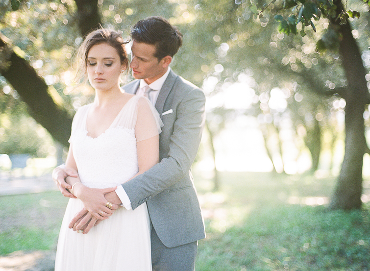 romantic wedding in French Provence shot on film
