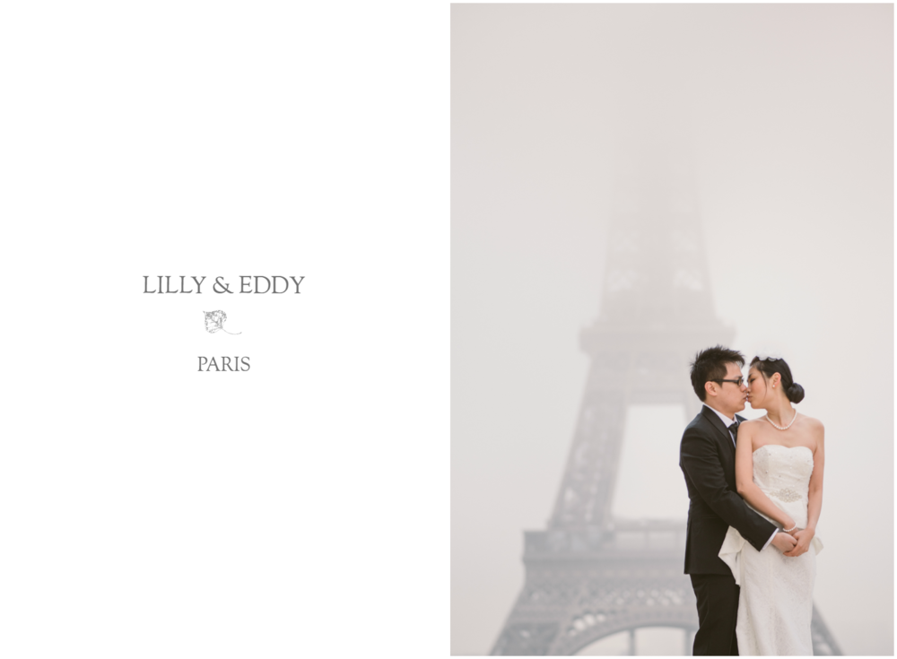 Prewedding in Paris in front of the Eiffel Tower