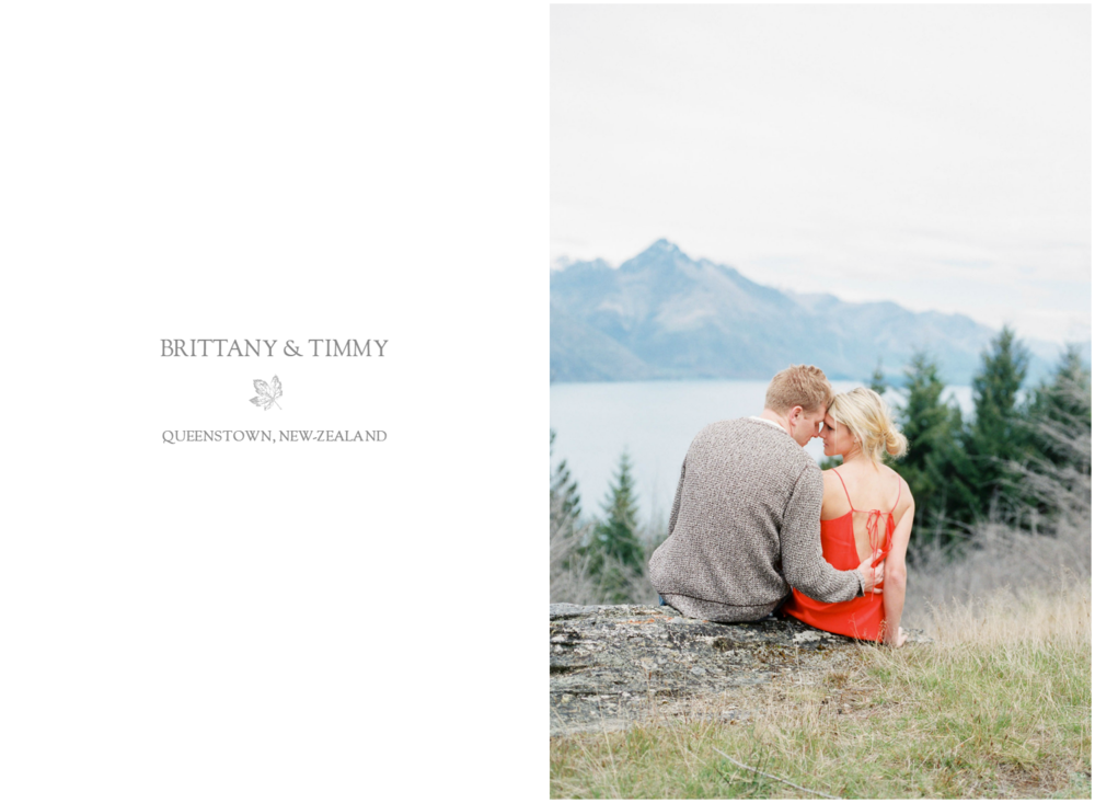 Queenstown engagement session on top of the Hill