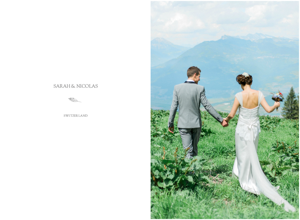 Beautiful mountain wedding in Switzerland