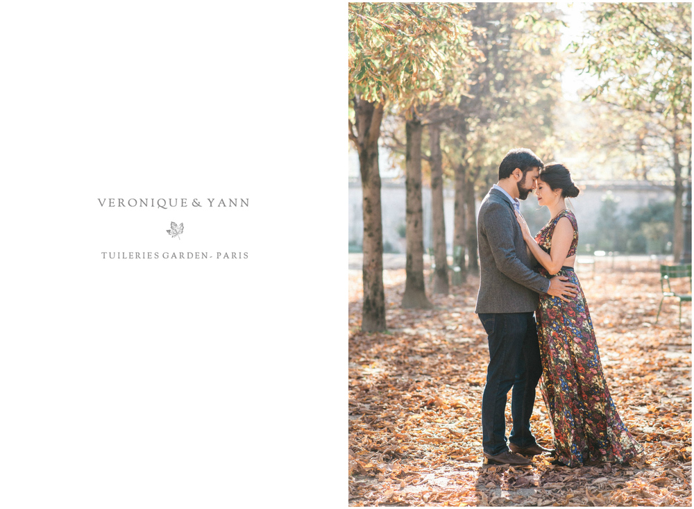 Anniversary session in Paris in autumn at Jardin des Tuileries