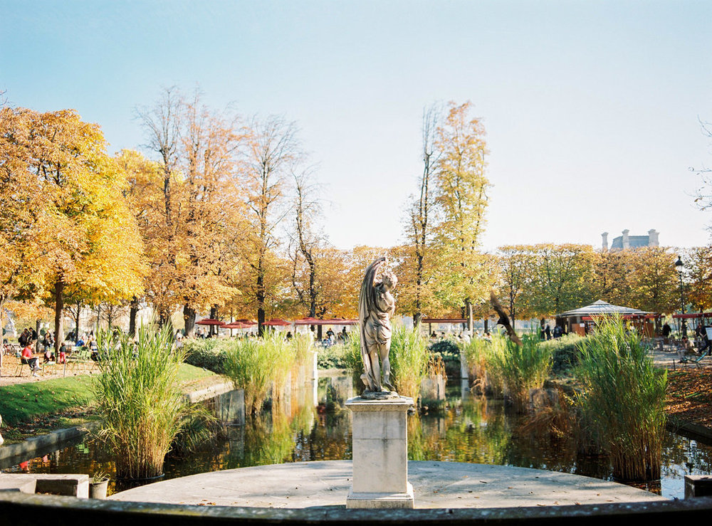 Jardins des Tuileries in Autumn Paris