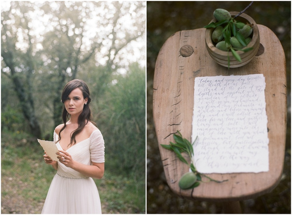 Wedding Vow in Provence ©Celine Chhuon