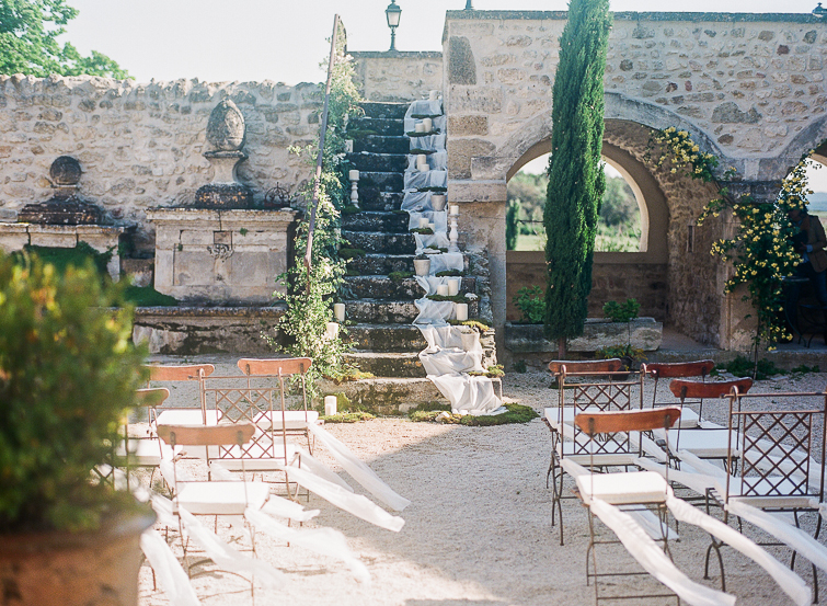 outdoor ceremony in French Provence