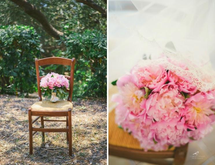 Bouquet mariée pivoine rose