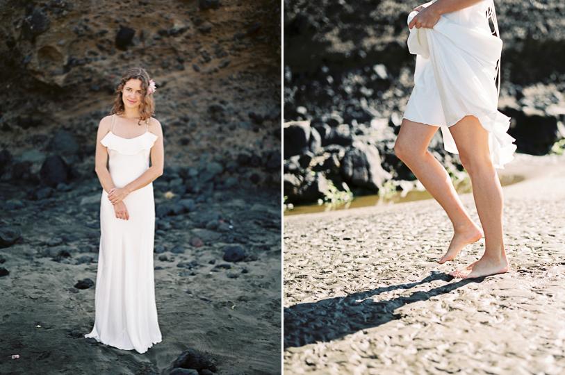 Boho barefoot bride