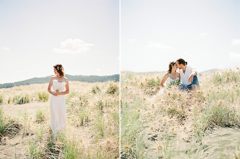 Elopement on the beach from destination wedding photographer