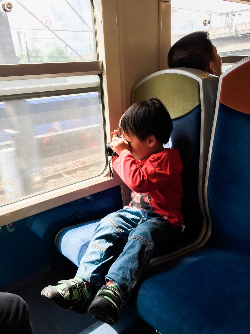 Leo creating magic on the train