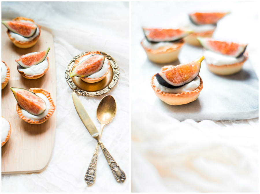 French baking patisserie Fig tartlets