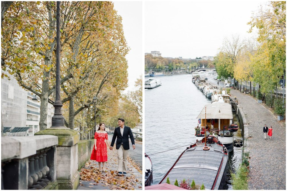 Paris prewedding photo in Autumn